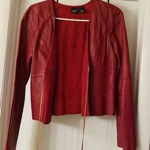 GAP Leather Jacket RED